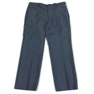 INC Mens Dress Pants Paul Flat Front Blue Sz 36x30